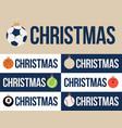 sport merry christmas horizontal banner set vector image vector image