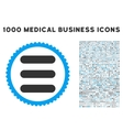 Stack Icon with 1000 Medical Business Pictograms vector image vector image