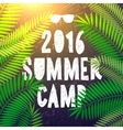 Summer camp 2016 themed and vacation poster vector image vector image