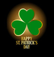 text of happy saint patricks day with vector image vector image