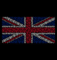 uk flag pattern of radioactive items vector image vector image