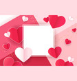 valentines card love banner vector image vector image
