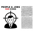 victim businessman icon with bonus vector image vector image