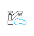 washing dishes linear icon concept washing dishes vector image vector image