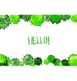 watercolor colorful green blot background vector image vector image