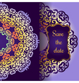 Wedding invitation delicate swirl mandala pattern vector image vector image