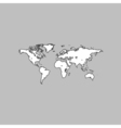 World Map computer symbol vector image