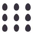 easter black eggs set vector image