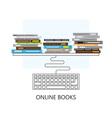 Modern flat concept design on online books vector image