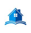 house construction book logo vector image