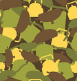 Military texture of kitchen utensils Camouflage vector image