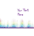 musical bar showing volume vector image