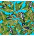Little birds sing songs Seamless texture vector image