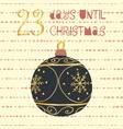 23 days until christmas vector image vector image