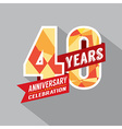 40th Year Anniversary Celebration Design vector image