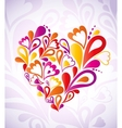 Abstract heart colorful vector image vector image