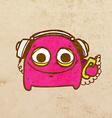 Alien with Headphones Cartoon vector image vector image