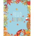 Autumn invitation card vector image