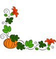 autumn pumpkin frame vector image