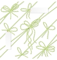 Bakers twine bows ribbons and labels vector image vector image