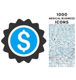 Banking Stamp Icon with 1000 Medical Business vector image vector image