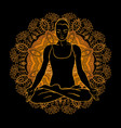 beautiful woman doing yoga meditation vector image