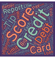 Better Credit Scores 7 Tips text background vector image vector image