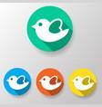 bird icon flat vector image vector image