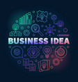 business idea creative round outline vector image