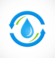 clean water process abstract logo vector image vector image