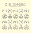 Cloud Computing Linear Icons Collection vector image