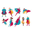 collection of superheroes bundle of men and women vector image
