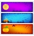 Colorful Halloween banners backgrounds set vector image vector image