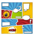 comic book frame set with speech bubbles vector image vector image