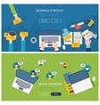 Concepts for business analysis consulting vector image vector image
