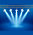 concert stage with floodlight vector image