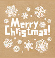 craft paper snowflakes on white background vector image vector image