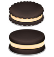 Dark chocolate cookie and cream vector image vector image