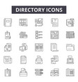 directory line icons signs set outline vector image vector image
