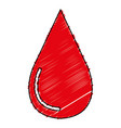 drop blood donation icon vector image
