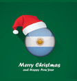 flag of argentina merry christmas and happy new vector image