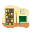 flat of reading room vector image vector image