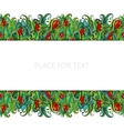 Flowers and grass seamless border pattern May be vector image vector image