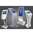 four promotional interactive information kiosk vector image vector image