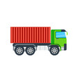 freight truck isolated icon vector image vector image