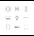 furniture outline icons set vector image vector image