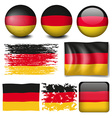 Germany flag on different items vector image vector image