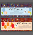 gift voucher celebration template background vector image