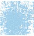 grunge blue halftone background vector image
