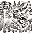 halftone abstract floral paisley seamless vector image vector image